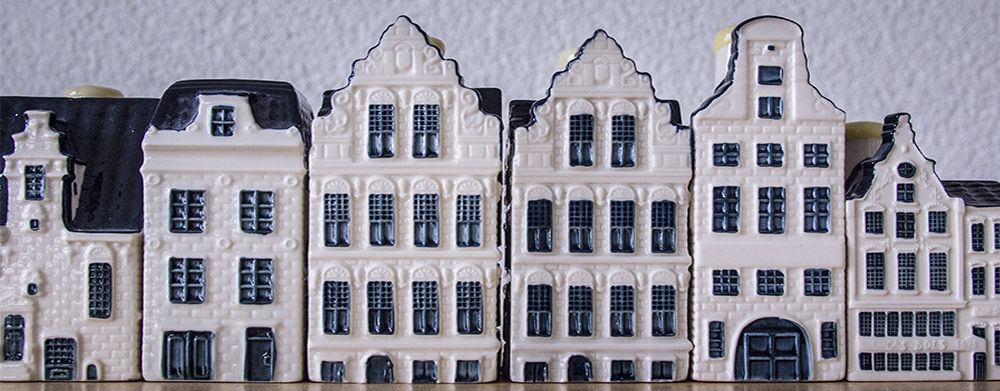 Row of porcelain houses