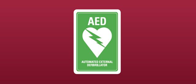 Automatic External Defibrillator (AED) logo.