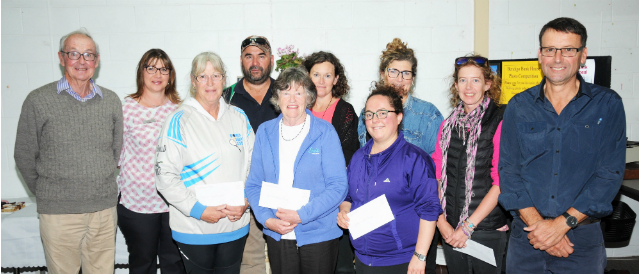 People representing local clubs and groups which have received funding from Donald Community Bank Branch.
