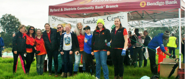 Byford Community Bank Branch staff and directors at a local event sponsored by the branch.