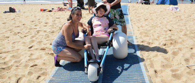 Beach accessibility is important in Clovelly and that's why Clovelly Community Bank Branch funds equipment to people of all abilities to safely experience swimming in the sea.