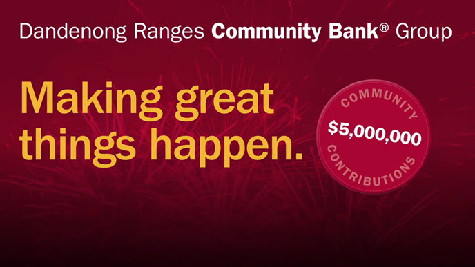 Dandenong Ranges Community Bank Group illustration of 'Making Great Things Happen' by giving back $5 million community investment to local communities.