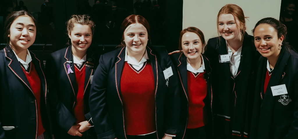 A group of school students who attended the Heidelberg Community Pitch night to pitch for their project.