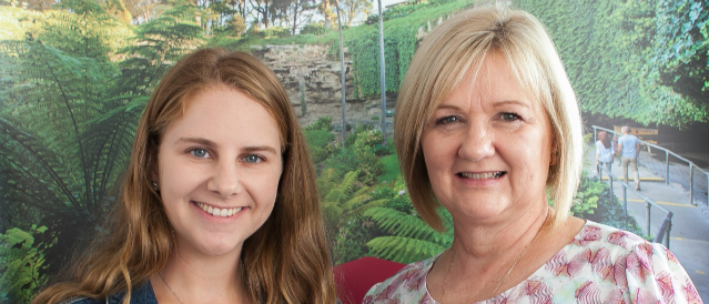 Mount Gambier Community Bank Branch Manager and this year's scholarship recipient.