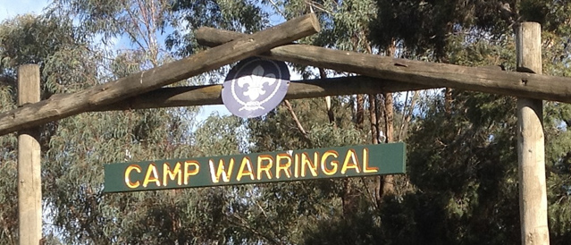The entrance sign at Camp Warrigal