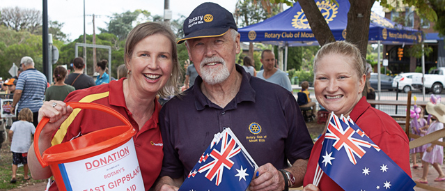 Our volunteers at Australia Day in Mt Eliza.