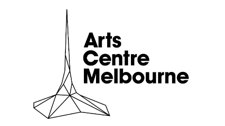 Drawn image, and the words, of the Arts Centre Melbourne.